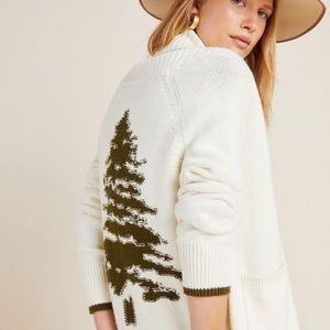 Anthropologie Tree Cardigan Sweater